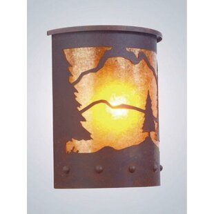 Timber Ridge 1-Light Outdoor Flush Mount by Steel Partners