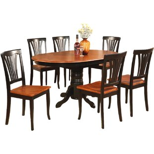 Square 7 Piece Solid Wood Dining Set by A..