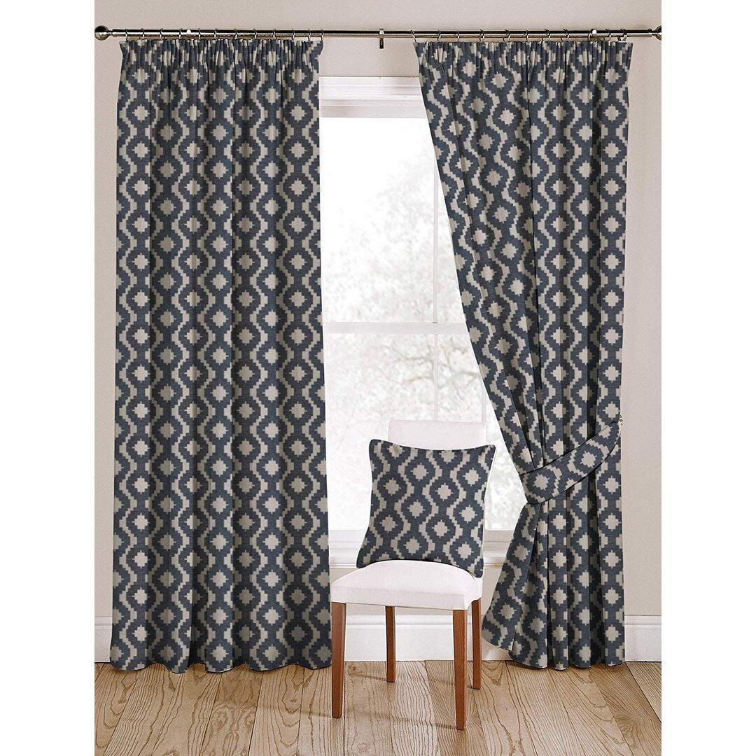 Zilla Arizona Cotton Pencil Pleat Blackout Thermal Curtains