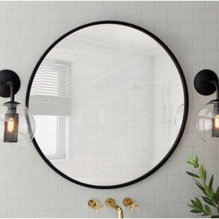 Modern Contemporary 24 Inch Round Mirror Allmodern