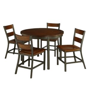 Oliver 5 Piece Dining Set by Loon Peak