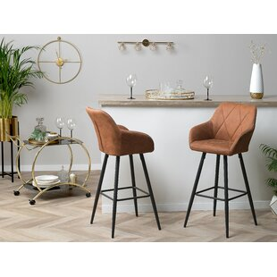 Boudreau Fabric 26.8 Bar Stool (Set of 2) by Corrigan Studio