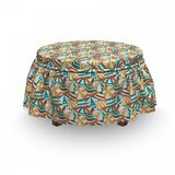 Summer Crowded Beach Ottoman Slipcover (Set of 2) by East Urban Home