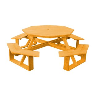 Moe Wooden Picnic Table By Longshore Tides