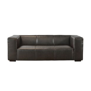 Denis Leather Sofa by Latitude Run New