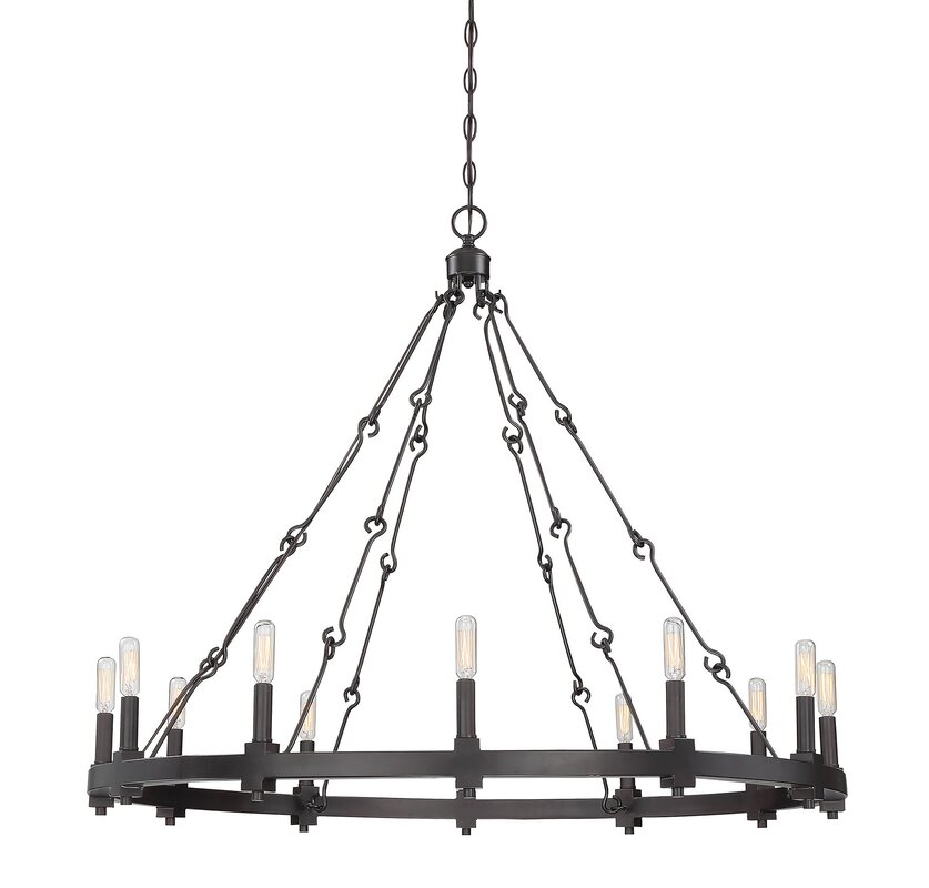 Laurel foundry modern farmhouse montreal 12 light candle style montreal 12 light candle style chandelier mozeypictures Gallery