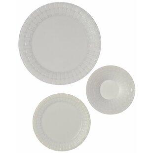 Vergeer Weave Heavy Duty Premium 75 Piece Dinnerware Set Service for 25  sc 1 st  Wayfair & Ebern Designs Dinnerware Sets You\u0027ll Love | Wayfair