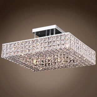 Everly Quinn Alexa 6-Light Contemporary Semi Flush Mount
