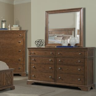 Trisha Yearwood Home Collection Rock Eagle 8 Drawer Dresser with Mirror