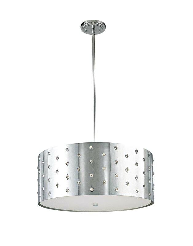What Are The Best Quality Drum Pendant Light George Kovacs By Minka Bling Bling 4 Light Unique Statement Drum Pendant