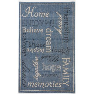 Affordable Price Cassity Home Blue Indoor/Outdoor Area Rug By Winston Porter
