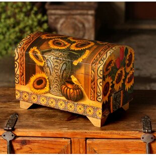 Novica Sunflowers and Talavera Decoupage Chest