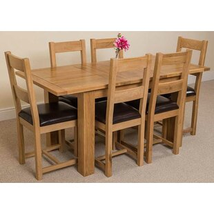 Riback Kitchen Dining Set With 6 Chairs By Rosalind Wheeler