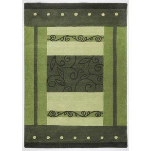 Hawaii Hand Tufted Cotton Green Rug by Theko