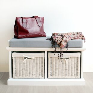 Bastogne Wood Storage Bench By August Grove