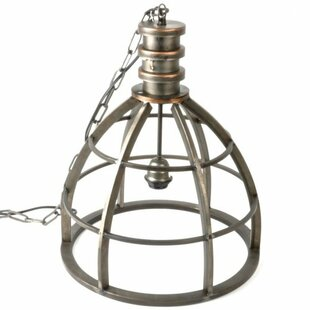 Williston Forge Glowacki Metal 1-Light Bell Pendant