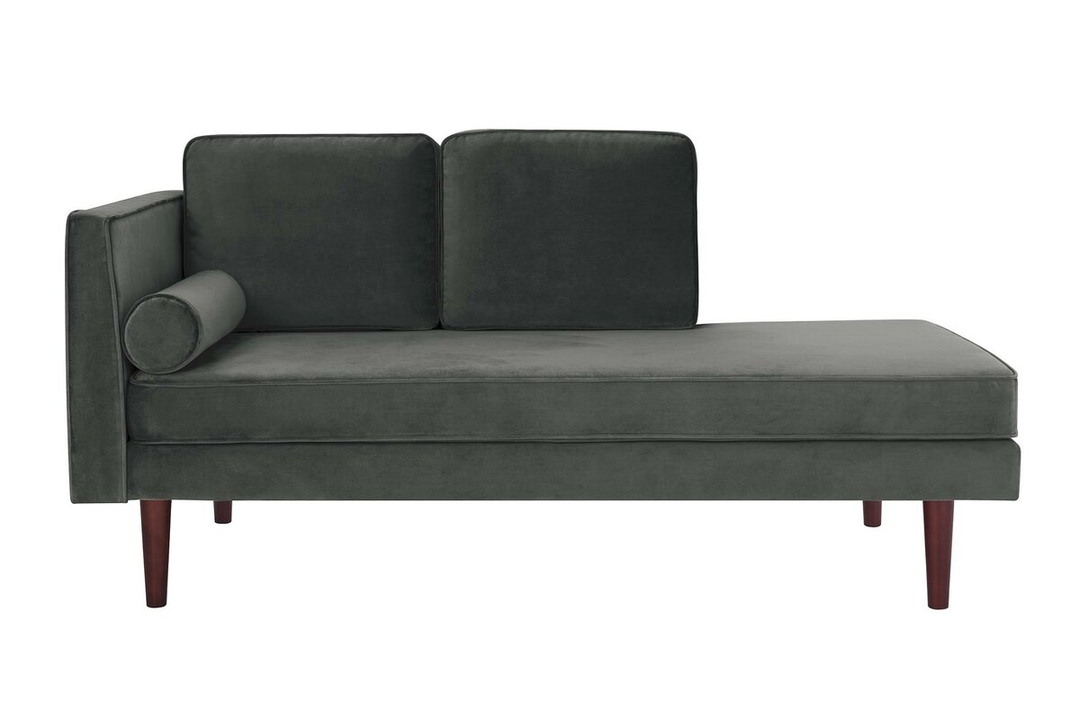 george oliver jabari mid century modern upholstered daybed with mattress reviews wayfair. Black Bedroom Furniture Sets. Home Design Ideas