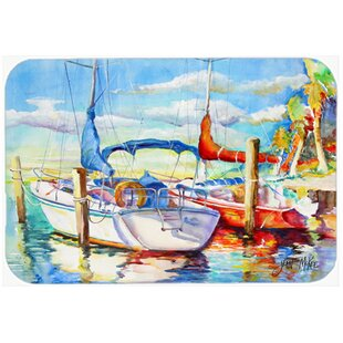 Towering Q Sailboat Glass Cutting Board By Caroline's Treasures