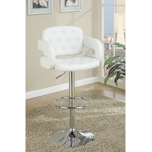 Mcilwain Adjustable Height Swivel Bar Stool