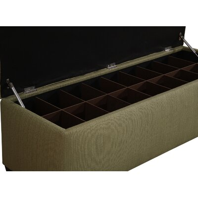 Winston Porter Paisleigh Upholstered Shoe Storage Bench Finish: Candice Ivy, Size: Small