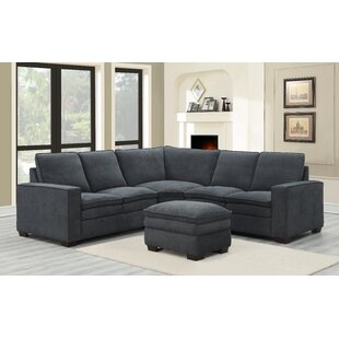 Demmer Symmetrical Sectional with Ottoman