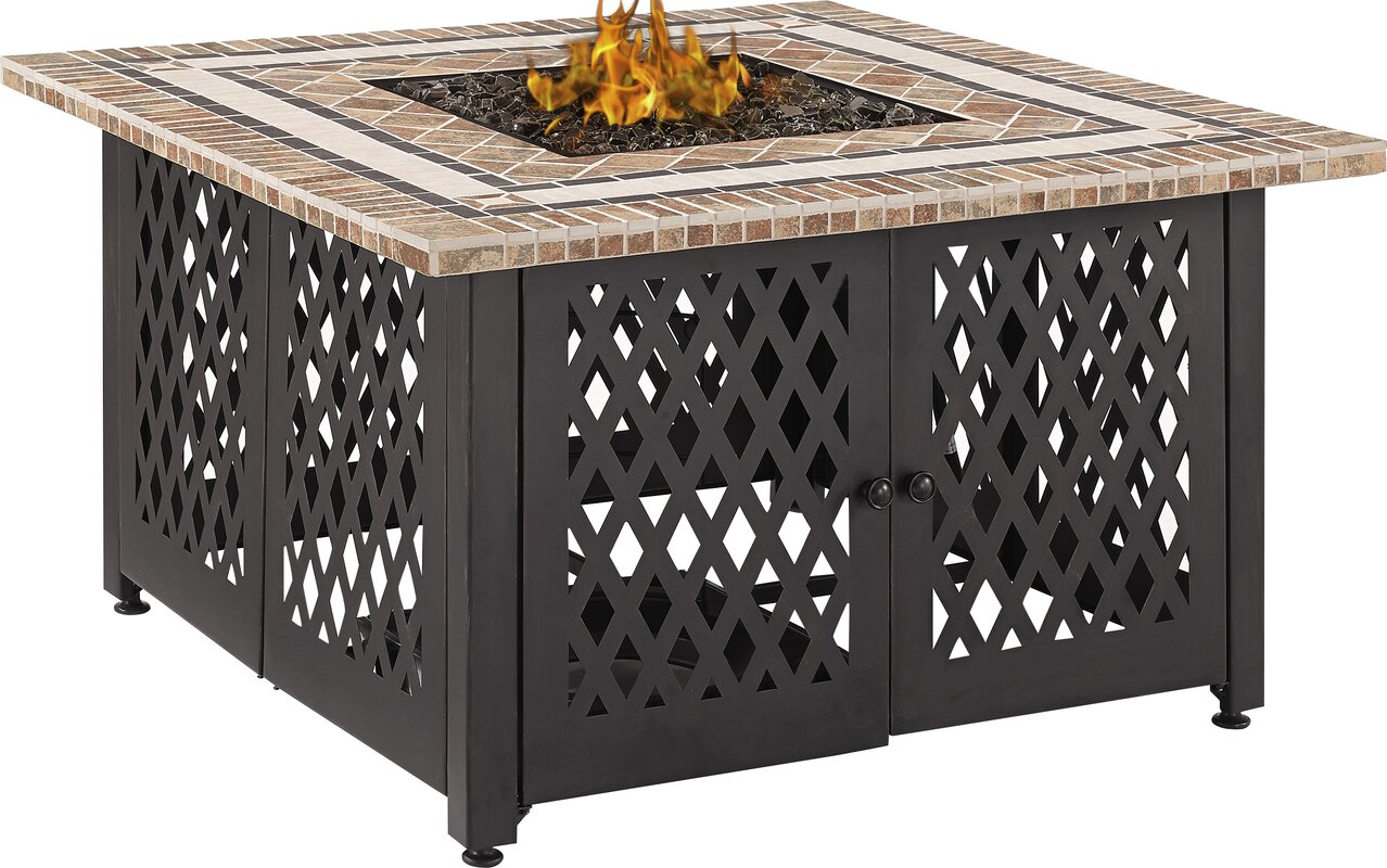 Crosley tucson steel propane fire pit table reviews wayfair tucson steel propane fire pit table geotapseo Image collections