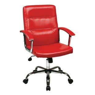 �� Wrought Studio Rybicki Mid-Back Desk Chair