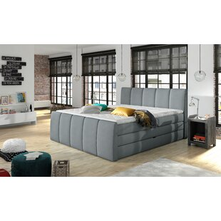 Brayden Studio Schwab Upholstered Storage Panel Bed with Mattress