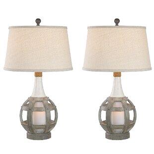 Resendez Coastal Lantern 31 Table Lamp (Set of 2)