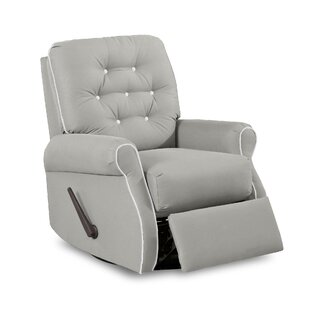Vinton Swivel Glider Recliner with Contrasting Welt