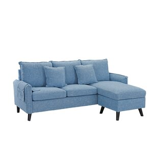 Fletcher Classic Small Space Reversible Sectional by Turn on the Brights