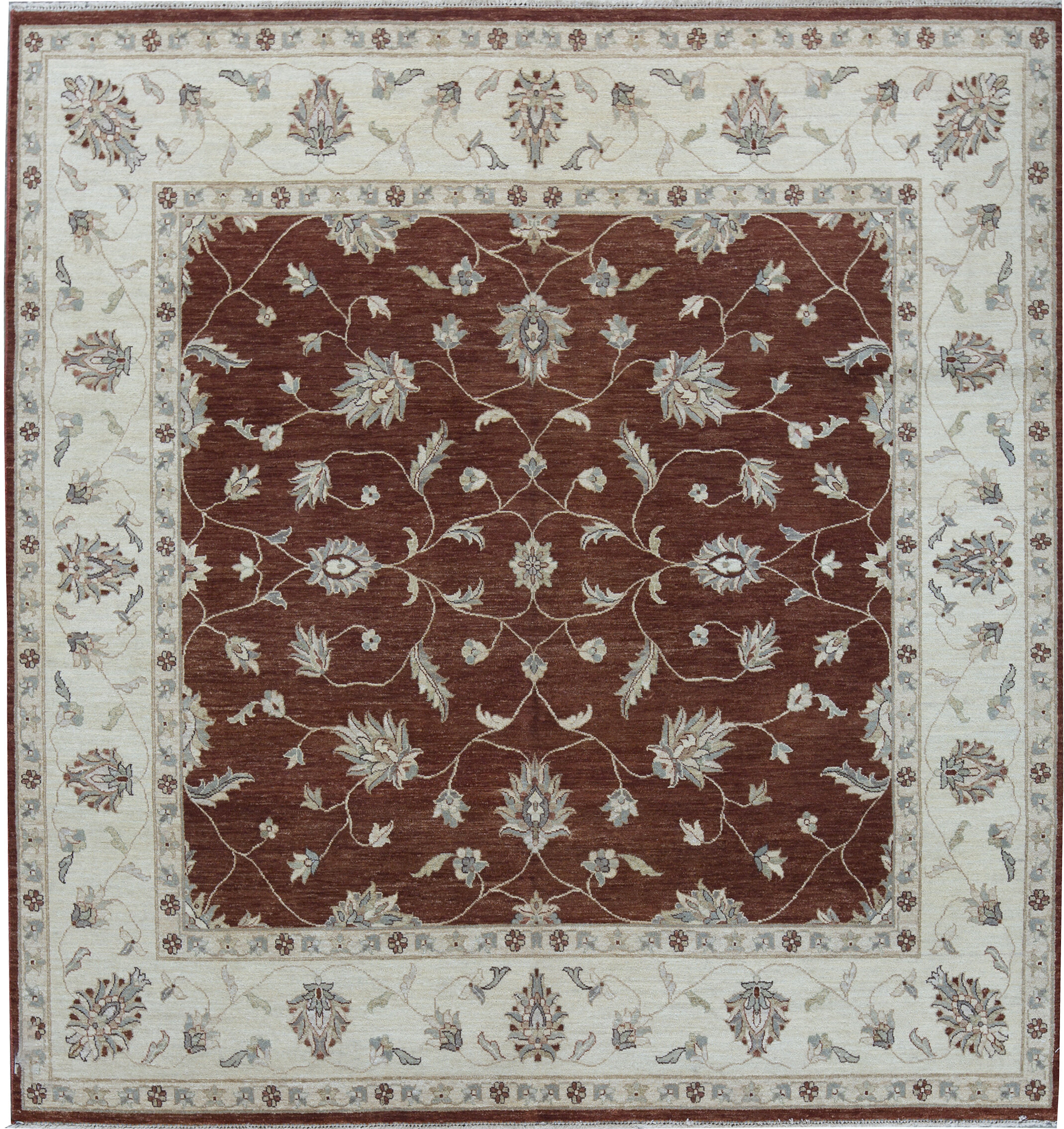 Bokara Rug Co Inc Cornwall Oriental Hand Knotted 8 2 X 8 6 Wool Red Ivory Area Rug Wayfair