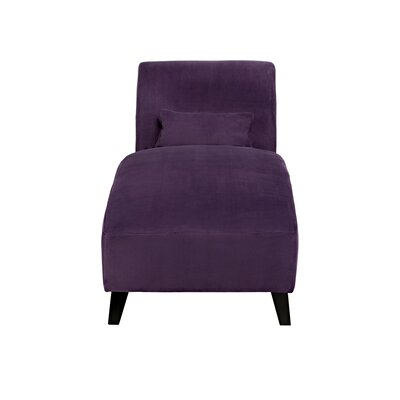 Ebern Designs Braemar Chaise Lounge Upholstery: Soft Plum Purple Velvet