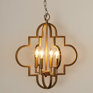 Willa Arlo Interiors Reidar 4-Light Geometric Chandelier