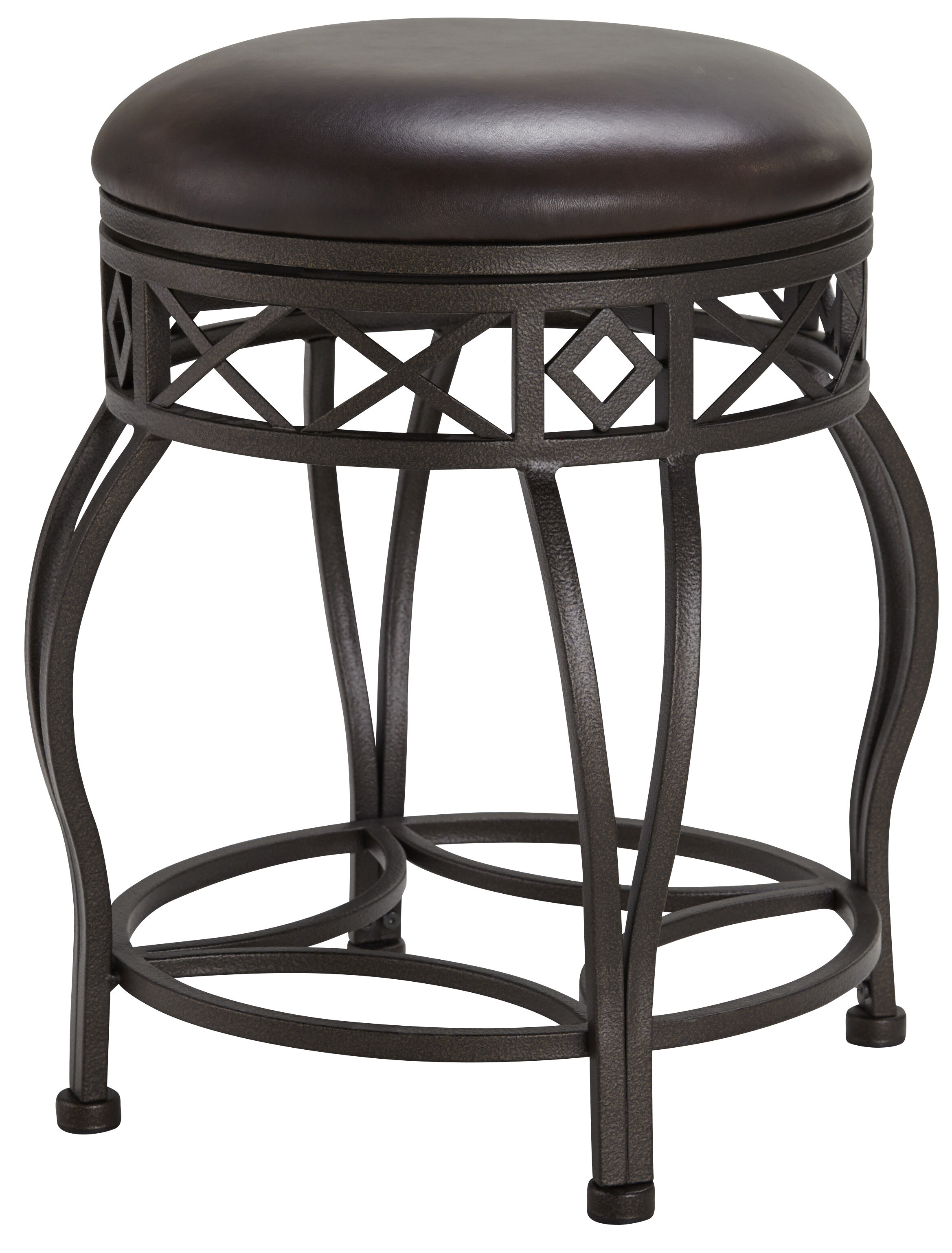 Wondrous Poteau Backless Metal Frame Adjustable Height Swivel Bar Stool Pabps2019 Chair Design Images Pabps2019Com