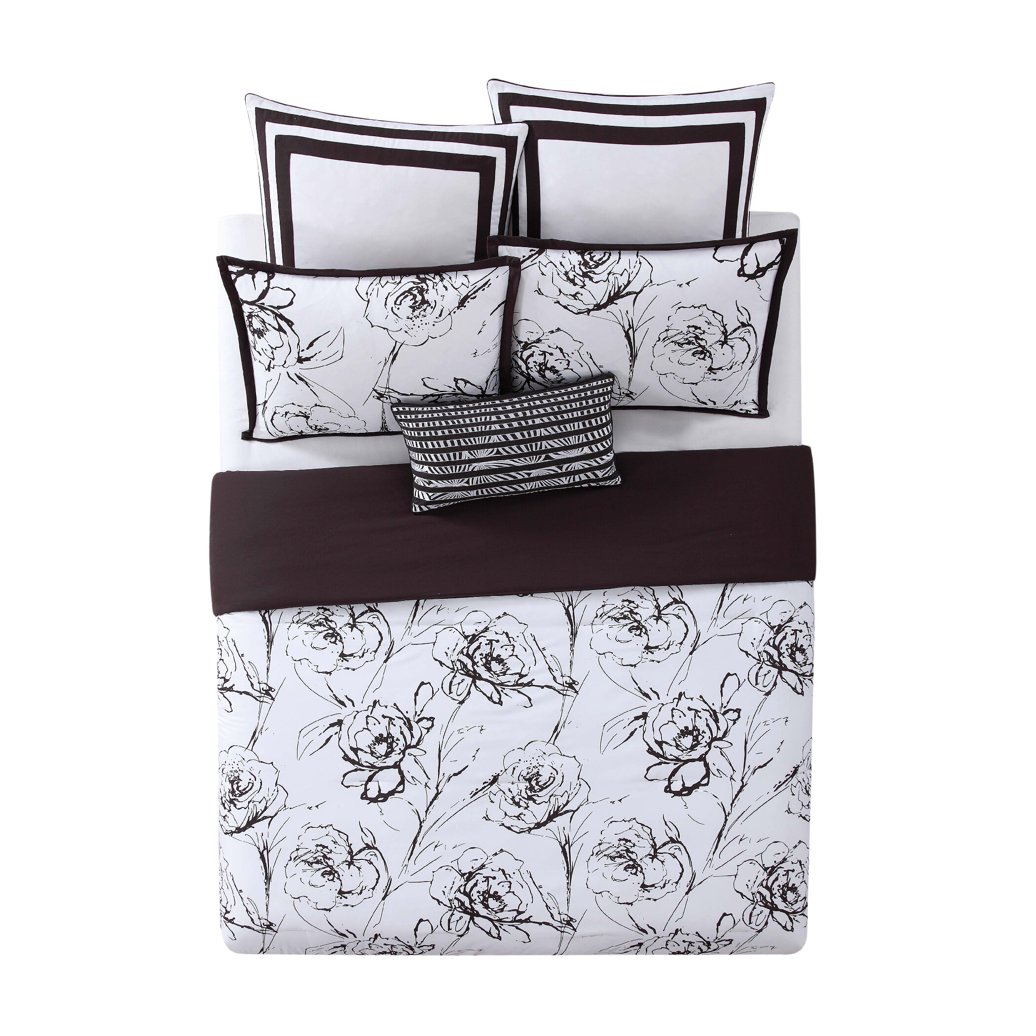9de1356c2d4b8 Christian Siriano Graphic Floral Comforter Set