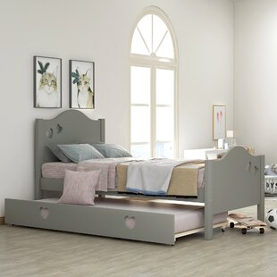 Mowry Twin Platform Bed with Trundle by Harriet Bee