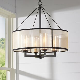 Drum chandeliers youll love wayfair dailey 4 light chandelier aloadofball Gallery