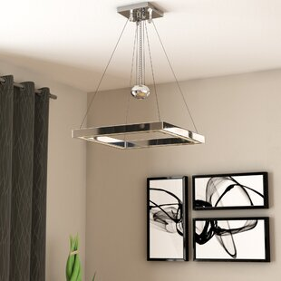 Orren Ellis Ellis Balance Square Adjustable 1-Light LED Geometric Pendant