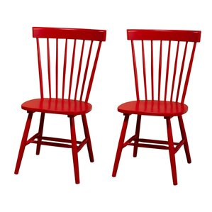 Royal Palm Beach Solid Wood Dining Chair  Set of 2 Red Kitchen   Dining Chairs You ll Love   Wayfair. Red Dining Chairs And Table. Home Design Ideas