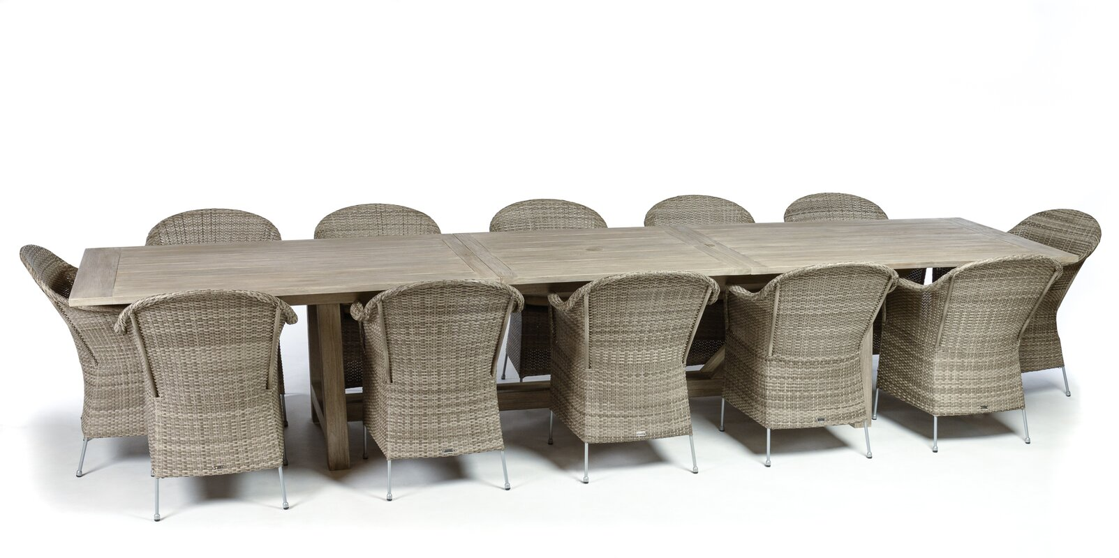 Lakewood 9 Piece Extension Trestle Table Dining Set