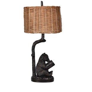 Loon Peak Hardeman Bear Knowledge 34'' Table Lamp