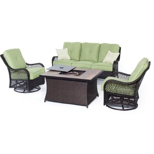 Innsbrook 4 Piece Rattan Sofa Set with Cushions