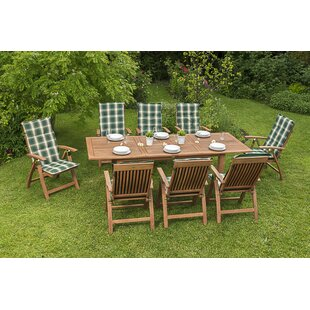 Read Reviews Wickstrom 8 Seater Dining Set With Cushions