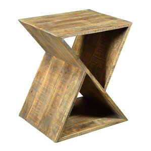 Alessandro Mango Wood Angled End Table by Br..