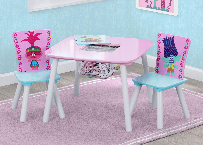 Delta Children Trolls World Tour Kids 3 Piece Square Table And Chair Set Reviews Wayfair