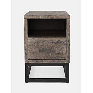 Nina End Table With Storage By 17 Stories