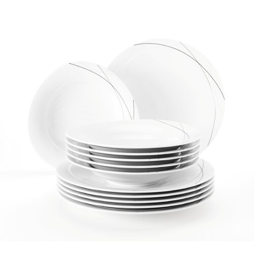 12-tlg. Tafelservice Trio aus Porzellan für 6 Personen | Küche und Esszimmer > Besteck und Geschirr > Geschirr | Highline | Seltmann Weiden