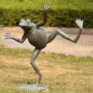 Dancing Frog Spitter Statue