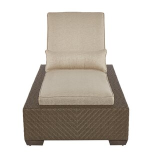 Astrid Outdoor Reclining Chaise Lounge with Cushion (Set of 2) By Gracie Oaks